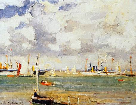 Weissenbruch Johan Hendrik - Ships In Harbour