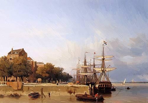 Weissenbruch Johan Hendrik - Ships On A Quay