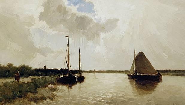 Weissenbruch Johan Hendrik - Ships On Canal