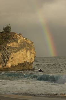 Shipwreck Beach Rainbow by Bonita Hensley