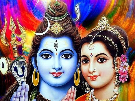 Shiva Parvati by Khalil Art