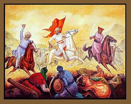Shivaji in the battlefield by Milind Shimpi