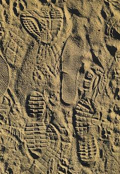 Shoe Prints II by R  Allen Swezey