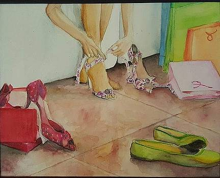 Shoe shopping by Tiffany Albright