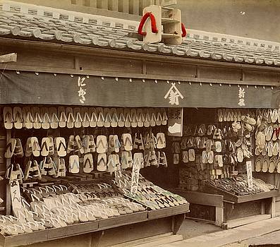 Shoe store in Japan, ca. 1890 - 1894 by Vintage Printery