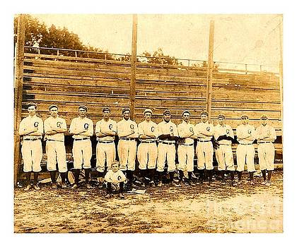 Shoeless Joe Jackson Age 19 with his Greenville South Carolina Baseball Team 1908 by Peter Gumaer Ogden