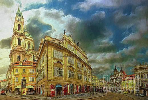 Shooting round the corner - Prague by Leigh Kemp