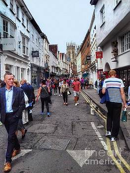 Shopping at Petergate York by Joan-Violet Stretch