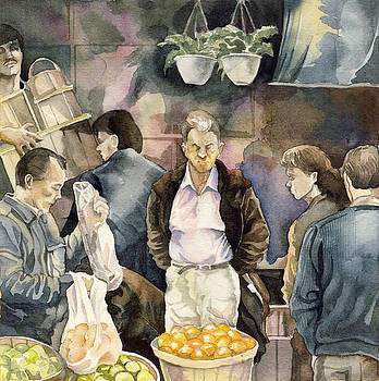 Alfred Ng - shopping for fruits