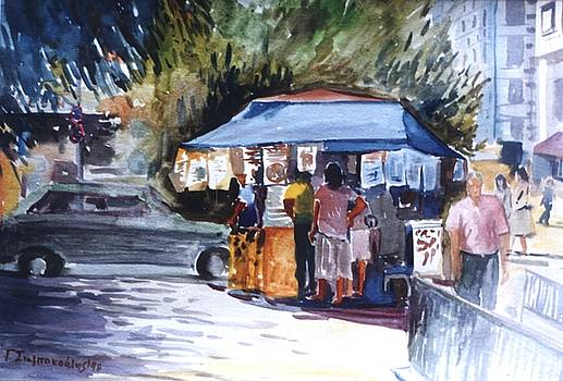 Shopping in the kiosk by George Siaba