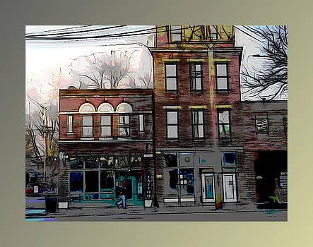 Shops on High Street by Joe Ditzel