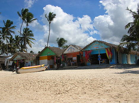 Shops on the beach by Jessica Hoover