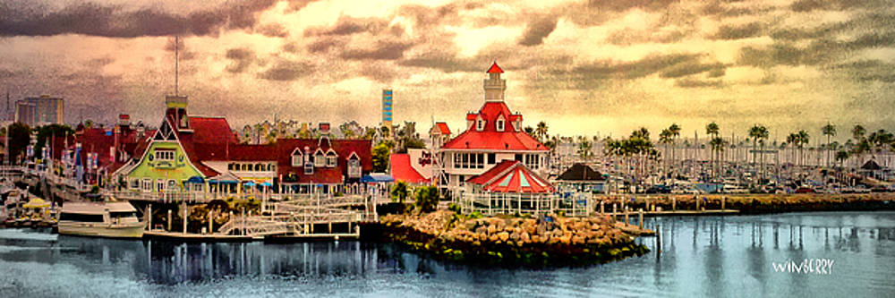 Shoreline village by Bob Winberry