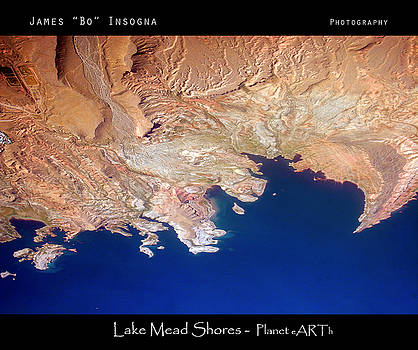James BO  Insogna - Shores of lake Mead Planet Art