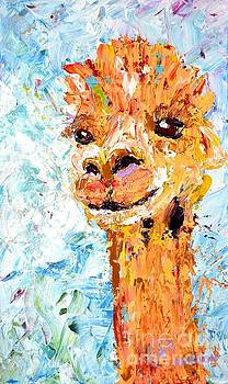 Shorn Alpaca. Where's My Fleece? by Lynda Cookson