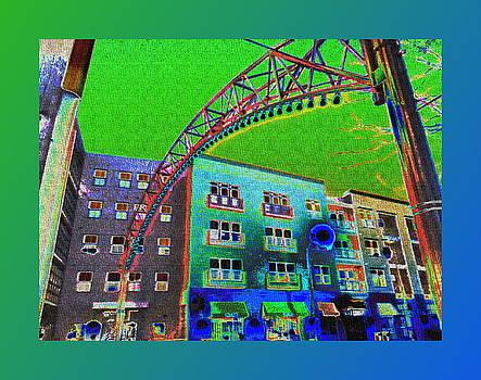 Short North Green and Blue by Joe Ditzel