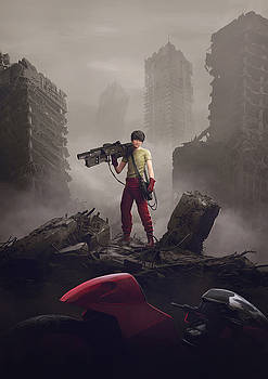 Shotaro Kaneda by Guillem H Pongiluppi