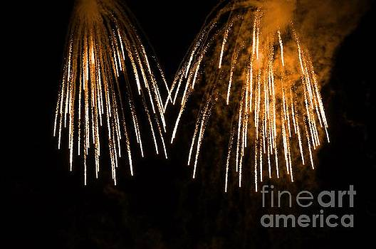 Shower of orange colors using pyrotechnics Firework by Akshay Thaker 'PhotOvation'
