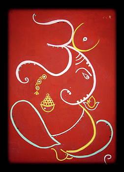 Shree Ganeshji. by Manali Thakkar