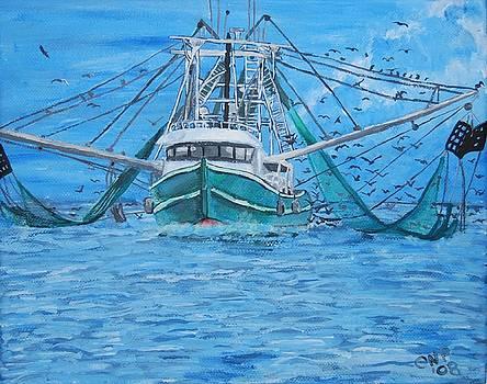 Shrimp Boat In Louisiana Marsh by Crystal N Puckett
