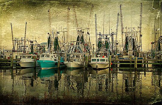 Shrimp Boat Lineup by Joan McCool