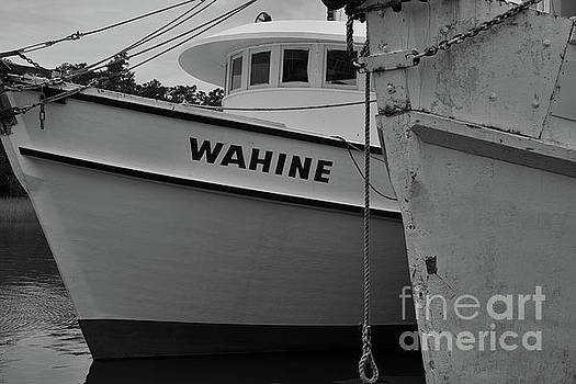 Dale Powell - Shrimp Boat Pilot House in Black and White
