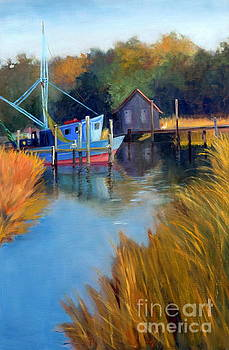 Shrimp Boat Waiting by Patricia Huff