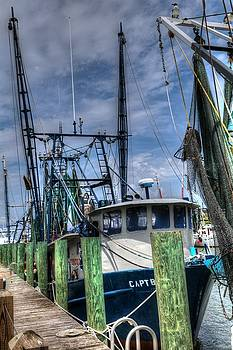 Shrimp Boats At Shem Creek South Carolina by Carol Montoya
