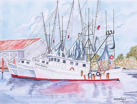 Shrimp Boats of Amelia Island by John Edebohls