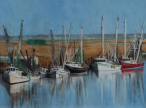 Shrimp Boats of Darien, Ga by Kathy Knopp