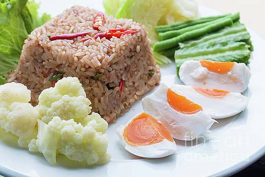 Shrimp paste fried rice by Atiketta Sangasaeng