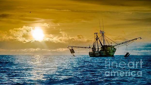 Shrimp Trawler at Dawn by Jim DeLillo