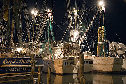Shrimpboats and Night by Tom McElvy