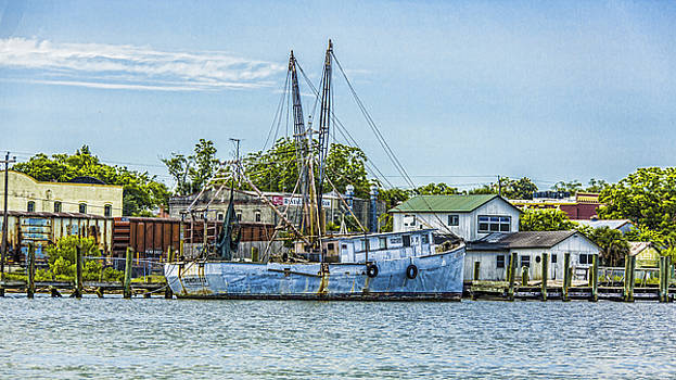 Shrimper's Harbor Town by Paula Porterfield-Izzo