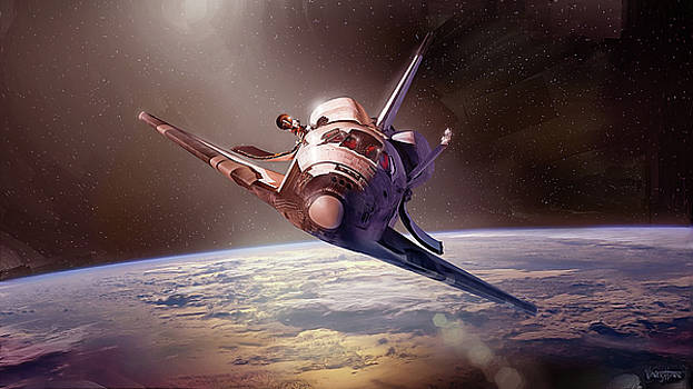 James Vaughan - Shuttle Discovery - bow on