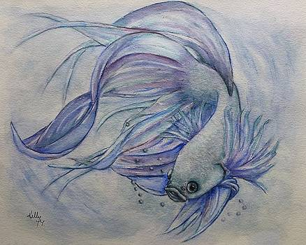 Betta Siamese Fighting Fish by Kelly Mills