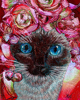 Siamese Kitty Valentine by Michele Avanti