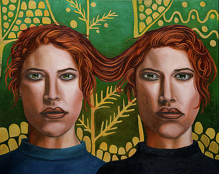 Leah Saulnier The Painting Maniac - Siamese twins 5