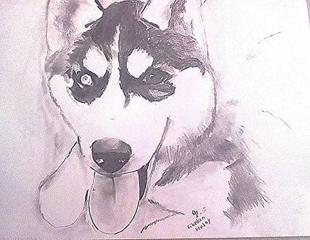 Siberian Husky 2 by Crystal Webb