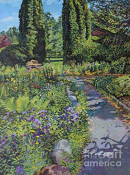 Sibley Garden with Purple Flowers by William Bukowski