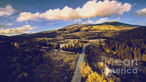 Sicilian Countryside with Mount Etna View by Owen Hunte