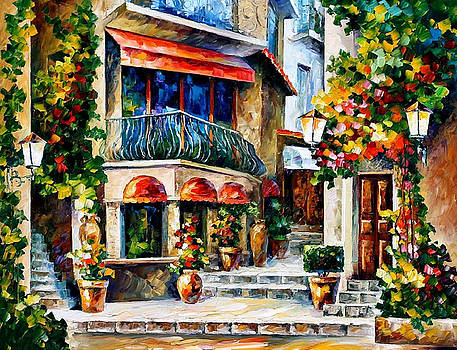 Sicily-Spring Morning - PALETTE KNIFE Oil Painting On Canvas By Leonid Afremov by Leonid Afremov