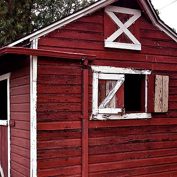 Side of a Red Barn by Richard Hinds