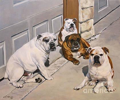 Sidewalk Quartet by Jeanne Newton Schoborg