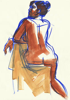 Judith Kunzle - Sideways on the chair