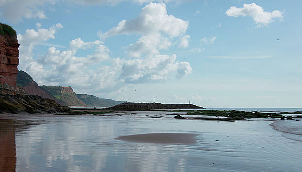 Sidmouth Beach by Mike Finding