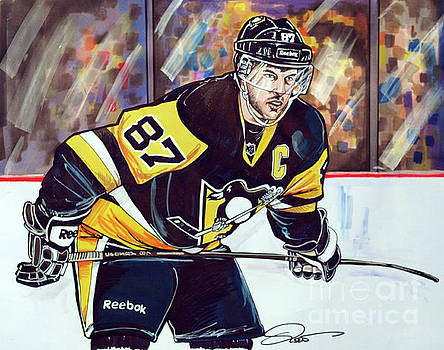 Sidney Crosby 2016 NHL Stanley Cup  Playoffs by Dave Olsen
