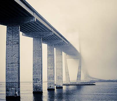 Chris Bordeleau - Sidney Lanier Bridge under Fog - BW