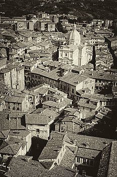 Cliff Wassmann - Siena from above antiqued