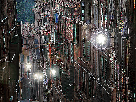 Siena street lamps by Jim Wright